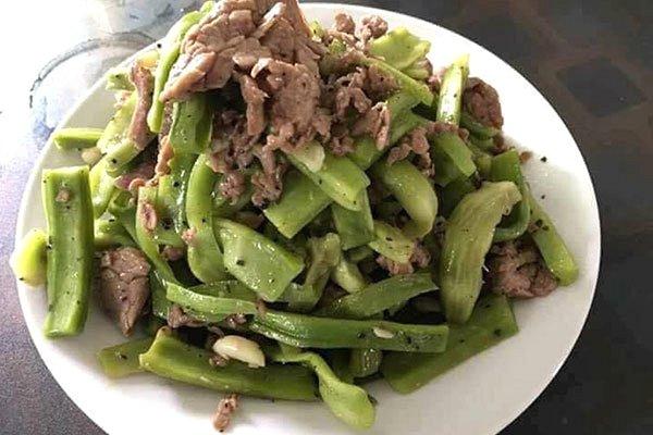 các món rau xào thịt bò rau tiến vua xào thịt bò