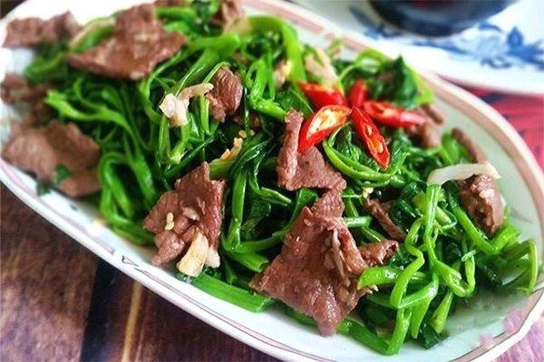 thịt bò xào rau củ quả thịt bò xào rau muống