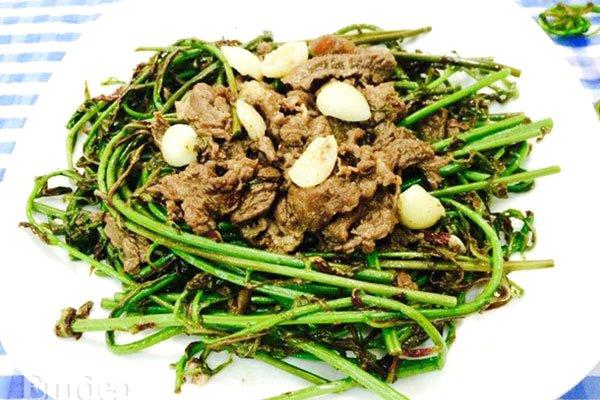 rau choại xào thịt bò