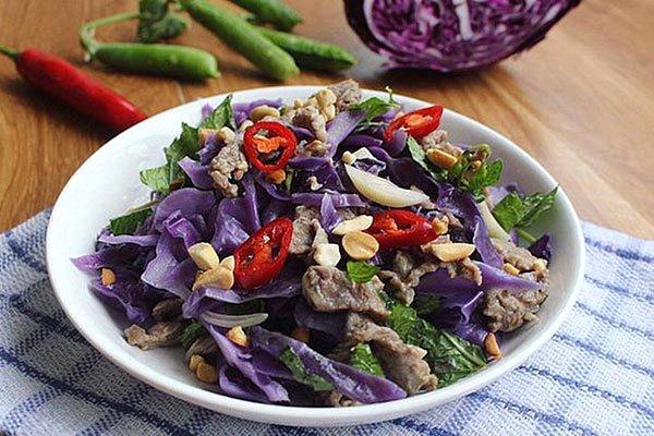 thịt bò xào rau bắp cải