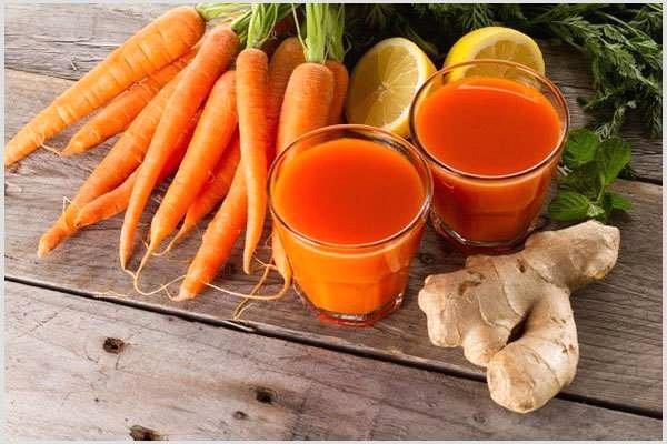 uống nước ép cà rốt đúng cách