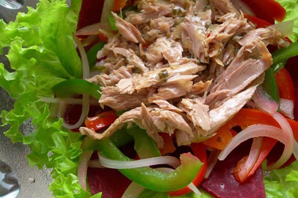 cách làm salad cá ngừ