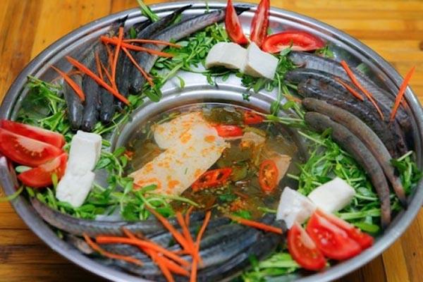 cách nấu lẩu cá kèo rau đắng