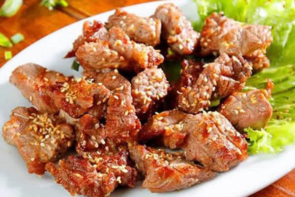 ướp thịt bò nướng chao