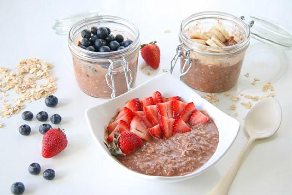 overnight oats cách làm